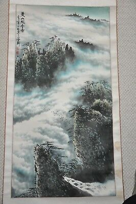 Vintage Chinese Water Color Scroll Painting