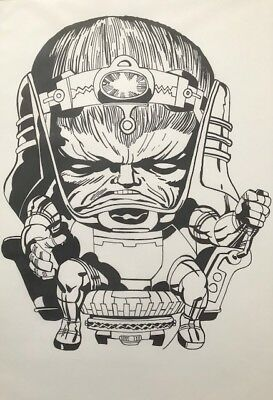 Cover Recreation - Tales of Suspense 94, page 4 - THE MODOK- Jack Kirby Tribute