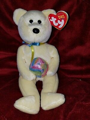 Ty Beanie Baby Babies 2003 EGGBEART Yellow Easter Bear MWMT