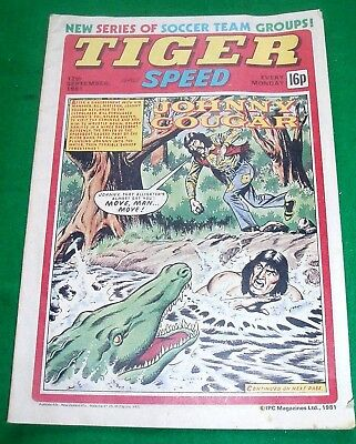 Tiger Comic 12/9/1981 With Stunning Celtic Champions Team Colour Poster
