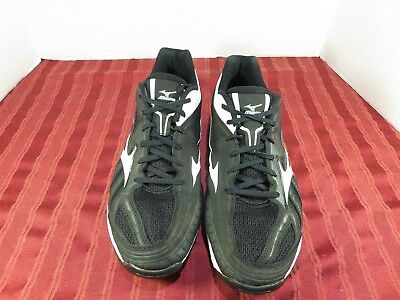 6a05be39a9ea MIZUNO PLAYERS TRAINER Baseball Training Shoes Black/White Men Size ...
