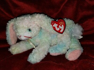 Ty Beanie Baby Babies 2001 COTTONBALL Easter Bunny Rabbit MWMT
