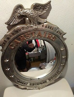 Carstairs Great American Whiskey porthole mirror Mancave.