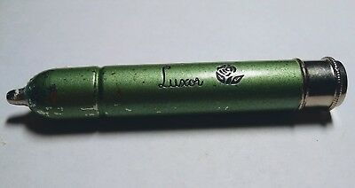 "Vintage ""Luxor"" Facial Powder Bullet Dispenser for Purse"