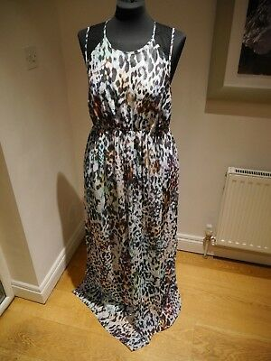 ASOS Leopard Print Maternity Maxi Dress Size 14 evening party lack backless