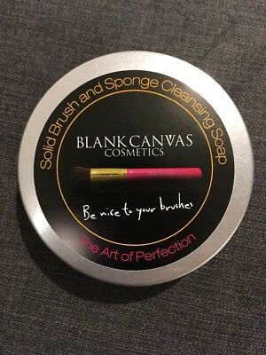 Blank Canvas Cosmetics Solid Bush And Sponge Cleaning Soap. New
