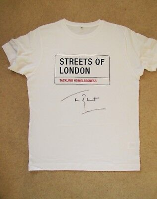 JAMES BLUNT Signed T-shirt - Streets of London charity auction