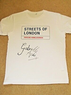 GABRIELLE APLIN Signed T-shirt - Streets of London charity auction