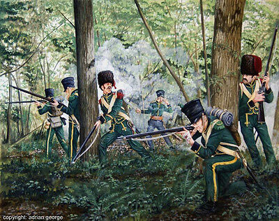 Napoleonic Print: 'Nassau's at Hougoumont Wood' (Limited Edition)