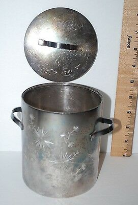HARTFORD SILVER PLATE CO. Decorative Container Handles Lid, Quadplate,1890 #0464