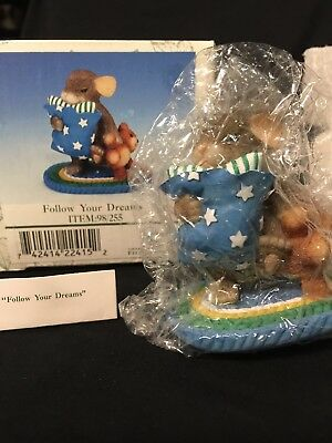 """Charming Tails """"Follow Your Dreams"""" Fitz and Floyd 98/255 Special Edition SIGNED"""