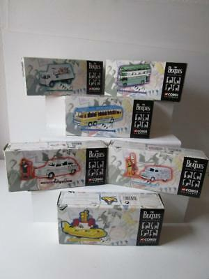 Corgi Full Set of 6 Beatles Collection MIBs - Yellow sub - MMT Bus - Taxi etc