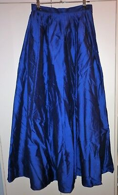 Vintage Perri Cutten Blue Silk Skirt Size 10 Excellent Condition