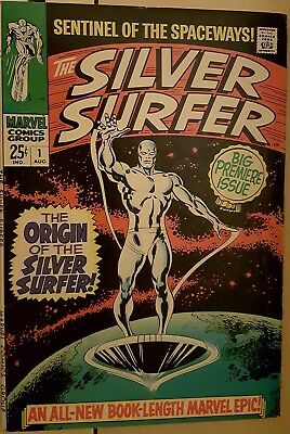 The Silver Surfer #1 (Aug 1968, Marvel) 8.5 VF/NM condition 25c issue