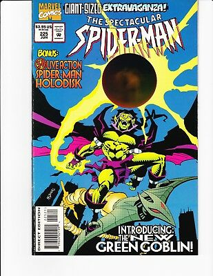 SPECTACULAR SPIDER-MAN #225 VF1995 GIANT SIZE New Green Goblin 3D HOLODISK COVER
