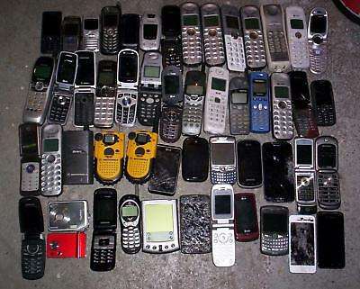 LOT of 46 CELL PHONES & SMARTPHONES Plus Bonuses for GOLD SCRAP METAL RECOVERY!!