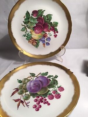 Tuscan Pottery Art Deco Fruit Cabinet Plates 20.5cm APROX