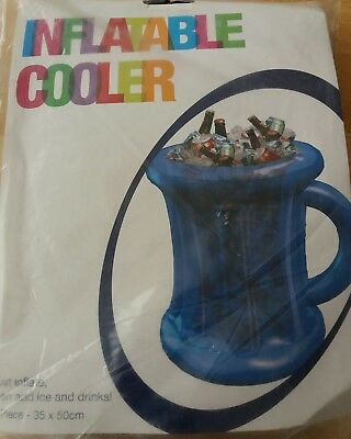 Inflatable Blue Drinks Beer Cider Ice Cooler Stag do party NEW