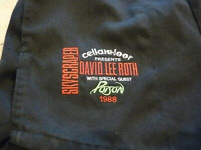 David Lee Roth & Poison 1988 Skyscraper Tour Band Crew Only Shorts RARE