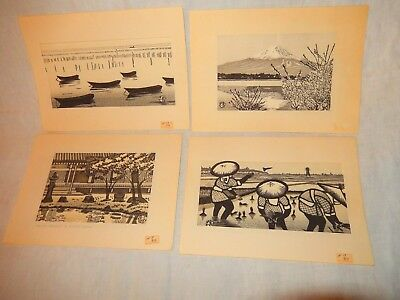 Japanese Woodblock  Prints (4)