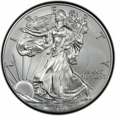 2012 US Mint $1 American Silver Eagle 1 oz Silver Coin Direct From Mint Tube