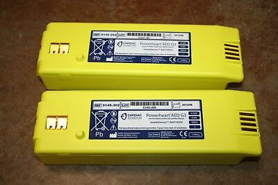 Lot of 2 Cardiac Science Powerheart AED G3 Battery 9146 - 102 202 302 - 25% LIFE