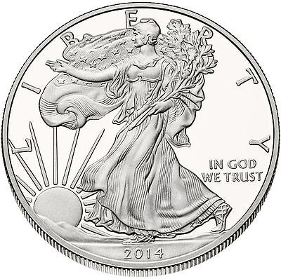 2014 US Mint $1 American Silver Eagle 1 oz Silver Coin Direct From Mint Tube