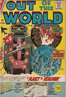 Out Of This World. 15. Charlton Comics 1959.  10 Cent Issue.