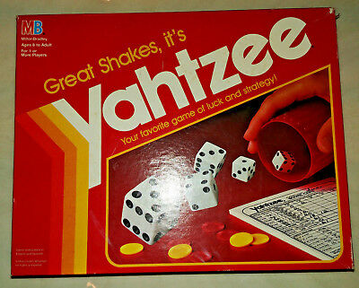 1991 Vintage Yahtzee Classic Board & Dice Game with EXTRA BOX of Score Cards!