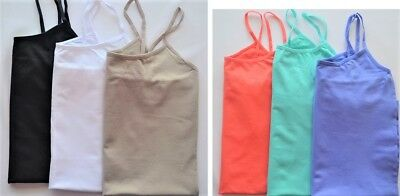 3-pack Dream Cami Size S/M L/XL Extra Long Stretch Seamless Tank Top Camisoles