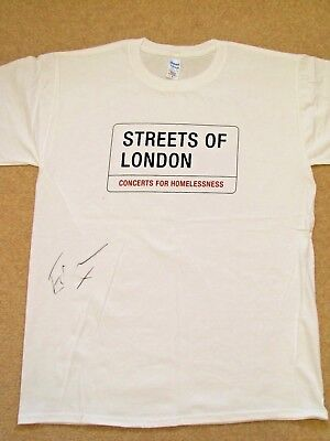 ED SHEERAN Signed T-shirt - Streets of London charity auction