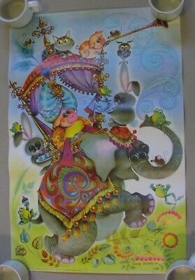 1969 poster - MAXWELL HOUSE Coffee - by George Buckett - psychedelic art - piggy