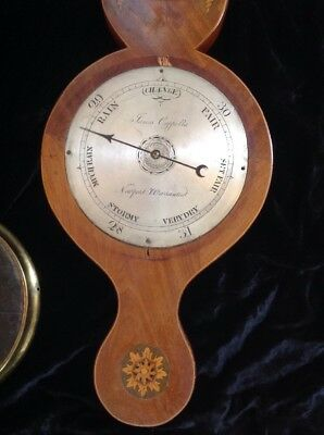 Antique Barometer 1870s British, James Capella, Newport, Wales