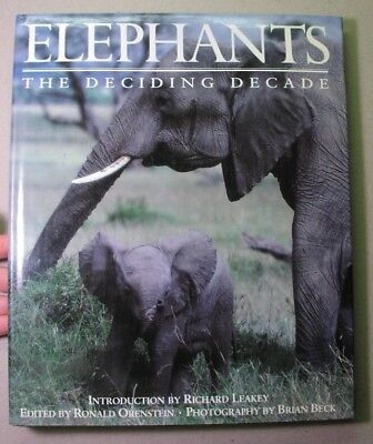 ELEPHANTS, Deciding Decade: Richard LEAKEY 1991, fine; Beck photos anti-poaching