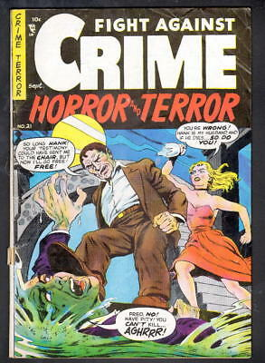 Fight Against Crime Horror And Terror #21 Story Comics 1954 Last Issue
