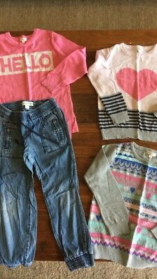 Size 5 Bundle Of Girls Winter Clothing (Country Road Denim & Seed Knits)