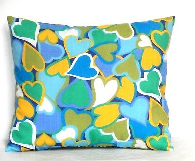 Hearts Toddler Pillow on multi-color Cotton 3-3P New Handmade