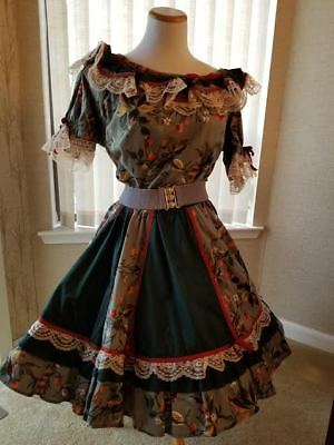 One of My Favorites! Lovely two piece Square Dance outfit, plus accessories.