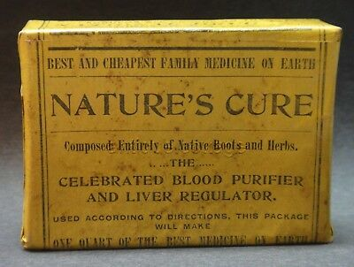 c1890 antique UNUSED homeopathic BLOOD PURIFIER LIVER quack medicine malaria