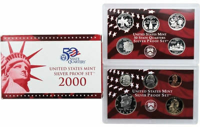 (1) 2000 United States Mint Silver Proof Set in Original Box