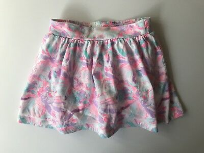 Oshkosh bright multi-colored Spring/summer skirt with built in shorts -size 6