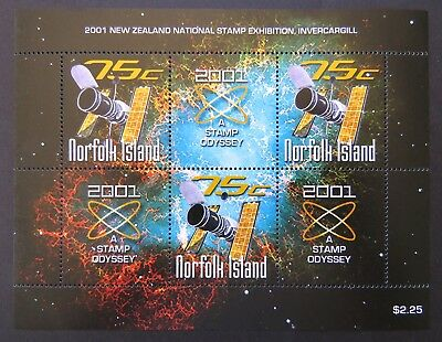 2001 Norfolk Island Stamps - 2001 A Stamp Odyssey - Mini Sheet MNH