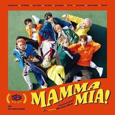 SF9-[Mamma Mia!]4th Mini Album CD+Poster+Booklet+Casting Card+Selfie+Ticket+Gift