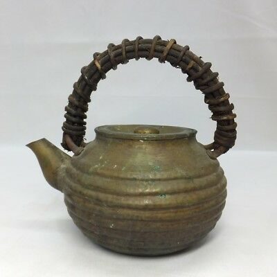 F920 Japanese OLD copper ware kettle for tea ceremony with good taste