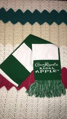 Crown Royal Apple Scarf, Dark Green And White, Soft -Warm,collectible Item