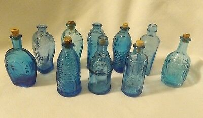 Vintage Wheaton Mini Glass Bottle Lot Of 10