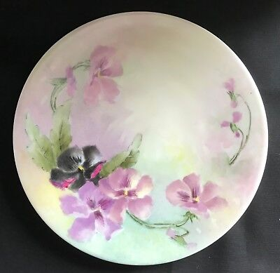 Antique Jean Pouyat Limoges (JPL) France 8 1/4 Inch Hand Painted Plate