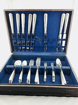 Gorham Camellia Sterling Silver 8 Sets Place Setting Silverware Antique 90pcs