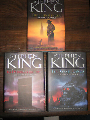 The Dark Tower by Stephen King 3-volume Hardcover Set 2003 Revised Edition Illus