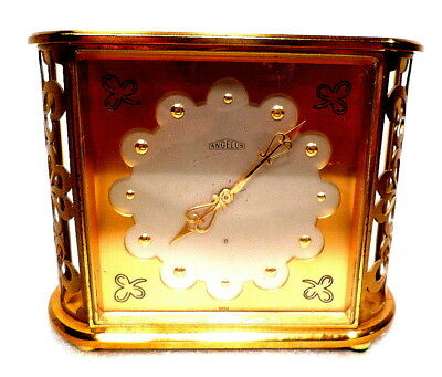Angelus Carved Side Desk Clock--SWISS--8 Days Running